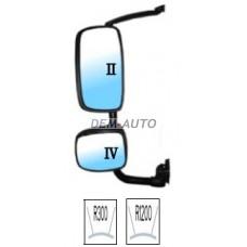 Xf(depo) Зеркало левое в сборе с кронштейном , верхнее и нижнее механическое с подогревом (DEPO) - Dem-Yug