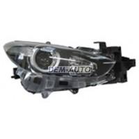 Фара правая с регулирующим мотором внутри черная (DEPO)