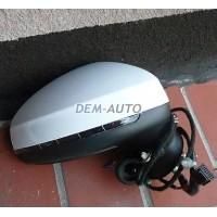 Зеркало правое электрическое , с автоскладыванием , подогревом , указателем поворота(convex), 8 контактов , грунтованное